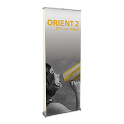 Orient 2 double-sided retractable banner stand