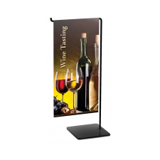 Mini Wire L-Banner Stand Tabletop with banner
