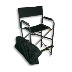 Portable director's chair in black