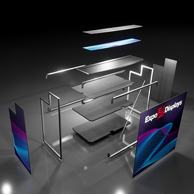 Expo Portable Mobile Bar Counter Set-Up