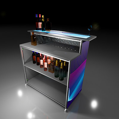 Expo Portable Mobile Bar Counter Back
