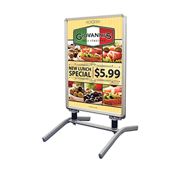 Spring Snap Sign Stand