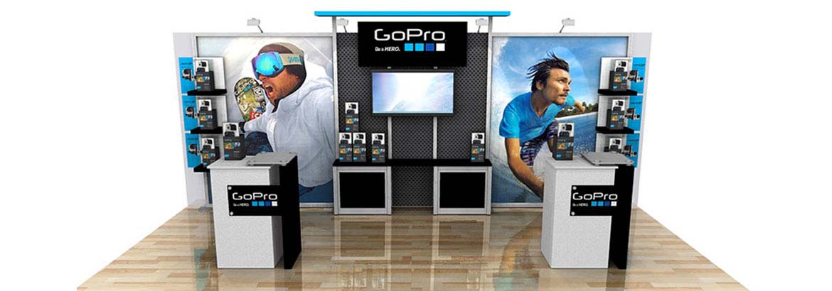 Portable Exhibition Display Cases : Trade show displays banner stands and exhibit graphics
